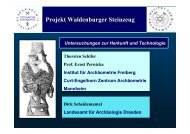 Projekt Waldenburger Steinzeug - Institut für Kernchemie