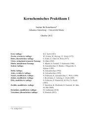Praktikumsskript (PDF) zum Download - Institut für Kernchemie ...