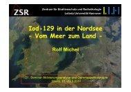Iod-129 in der Nordsee - Vom Meer zum Land - Institut für Kernchemie