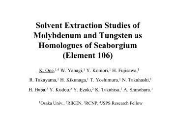Solvent Extraction Studies of Molybdenum and Tungsten as ...
