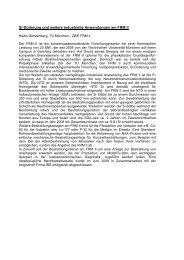 Si-Dotierung und weitere industrielle Anwendungen am FRM II