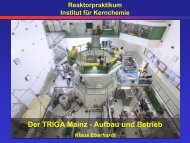 100 kW - Institut für Kernchemie