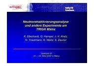 TRIGA Mainz - Institut für Kernchemie