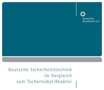 Deutsche Sicherheitstechnik im Vergleich zum ... - Kernenergie.de