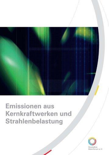 Emissionen aus Kernkraftwerken und ... - Kernenergie.de