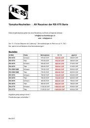 Angebote und Beschreibungen - Kern + Schaufelberger AG
