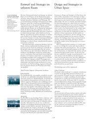 Design and Strategies in Urban Space - ETH Zurich - ETH Zürich