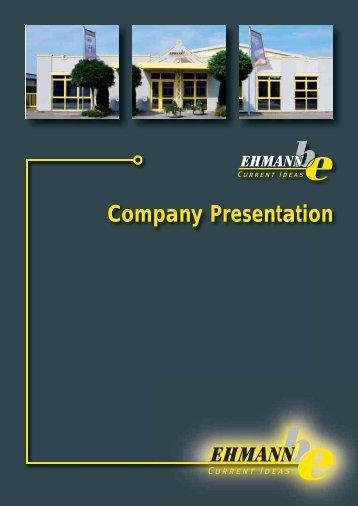Company Presentation - Ehmann