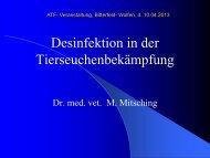 Desinfektion in der Tierseuchenbekämpfung