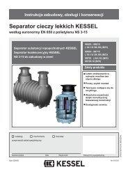 Separator cieczy lekkich KESSEL - Kessel Design