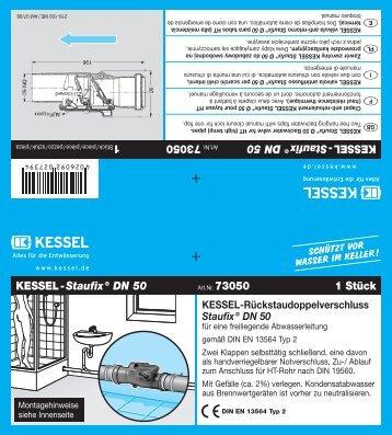 KESSEL-Rückstauverschluss Staufix® SWA für fäkalienfreies ...