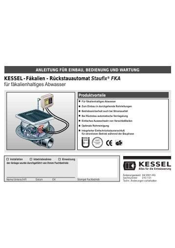 7. Betrieb Komfort Schaltgerät - Kessel Design