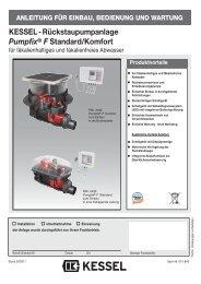 KESSEL-Rückstaupumpanlage Pumpfix® F Standard/Komfort