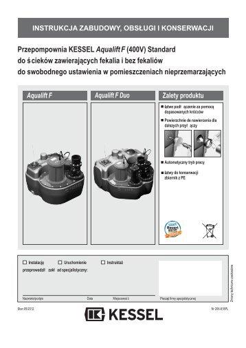 Przepompownia KESSEL Aqualift F (400V ... - Kessel Design