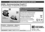 KESSEL-Rückstaupumpanlage Pumpfix®-F für ... - Kessel Design