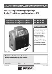 KESSEL-Regenwasserpumpanlage Aqabull® mit ... - Kessel Design