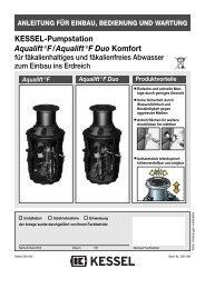 KESSEL-Pumpstation Aqualift€F/Aqualift€F Duo ... - Kessel Design