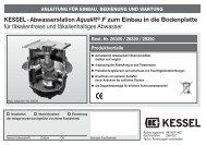 KESSEL-Abwasserstation Aqualift® F zum Einbau ... - Kessel Design
