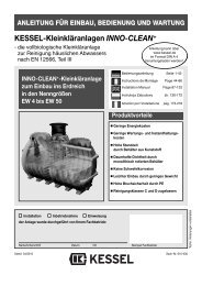 KESSEL-Kleinkläranlagen INNO-CLEAN+ - Kessel Design