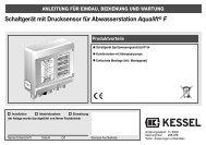 Schaltgerät mit Drucksensor für Abwasserstation ... - Kessel Design