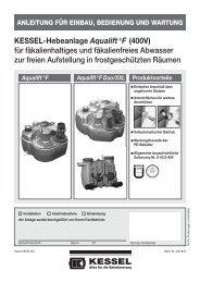 KESSEL-Hebeanlage Aqualift€F (400V) für ... - Kessel Design