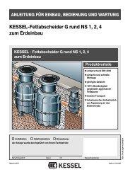 KESSEL-Fettabscheider G rund NS 1, 2, 4 zum Erdeinbau