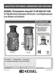 KESSEL-Pumpstation Aqualift® S LW 600/LW 1000 ... - Kessel Design