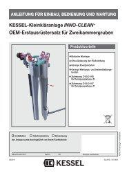 KESSEL-Kleinkläranlage INNO-CLEAN+ OEM ... - Kessel Design