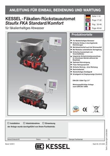 KESSEL-Rückstaupumpanlage Pumpfix F Standard/Komfort