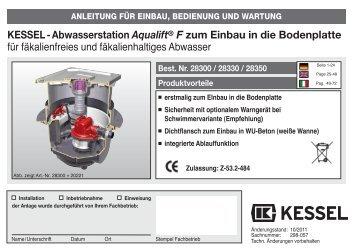 KESSEL-Abwasserstation Aqualift® F zum Einbau in die ...