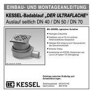 """KESSEL-Badablauf """"DER ULTRAFLACHE"""" Auslauf seitlich DN 40 ..."""