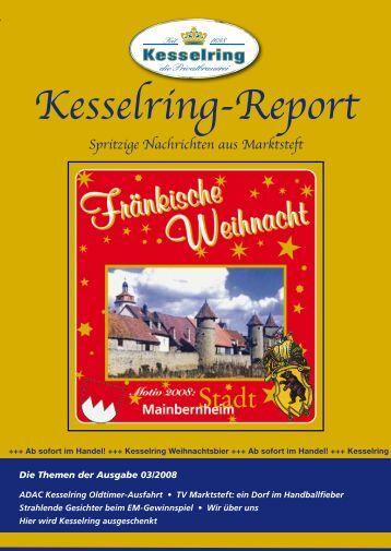 Kesselring-Report Spritzige Nachrichten aus Marktsteft