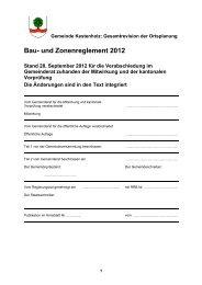 Bau- und Zonenreglement (pdf, 0,3mb) - Gemeinde Kestenholz