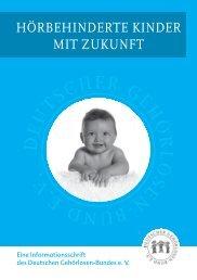 hörbehinderte kinder mit zukunft - Deutscher Gehörlosen-Bund e.V.