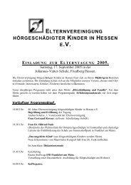 Einladung zur Elterntagung 2005