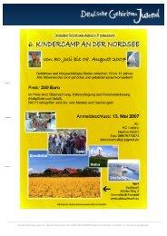 Lesen Sie hier die Infos zum Kindercamp