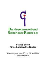 Bundeselternverband Gehörloser Kinder eV Starke Eltern für ...
