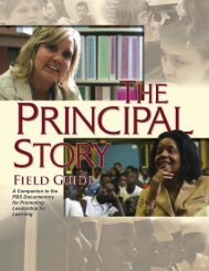 THE PRINCIPAL STORY Field Guide - The Wallace Foundation