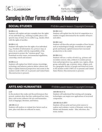 Sampling in Other Forms of Media & Industry - KET