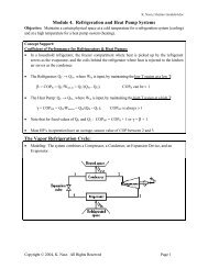 Module 4. Refrigeration and Heat Pump Systems The Vapor ...