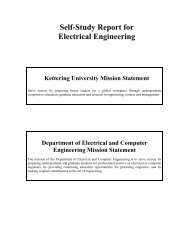 Self-Study Report for Electrical Engineering - Kettering University