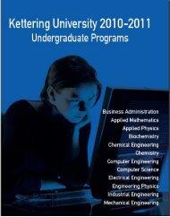 2010-2011 Undergraduate Catalog - Kettering University