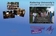 Kettering University's 2013 AIM Program Application