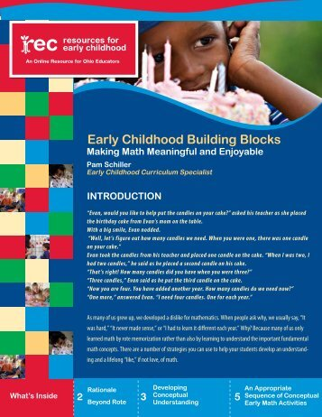 Early Childhood Building Blocks : Making Math Meaningful and
