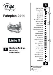 Fahrplan 2014 Linie 9 - Kevag