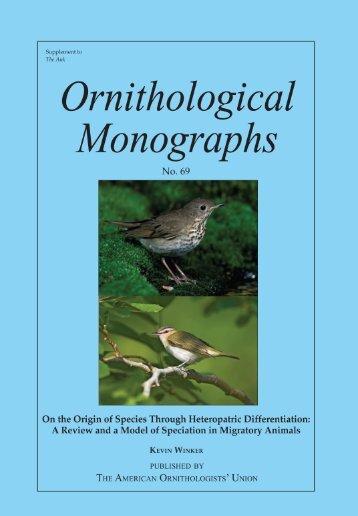 On the Origin of Species Through Heteropatric ... - Kevin Winker