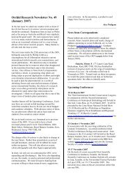 Orchid Research Newsletter No. 49 (January 2007) - Royal Botanic ...