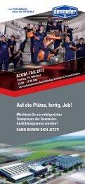 Auf die Plätze, fertig,  Job! - Demmeler Maschinenbau GmbH & Co. KG