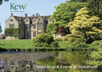 Download a Weddings & Events at Wakehurst brochure