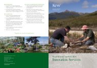 Download our Innovation Services brochure - Royal Botanic ...